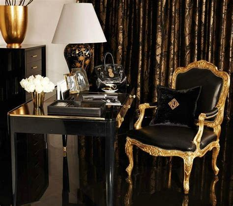 black and gold desk chair 20 interior color schemes summer colors