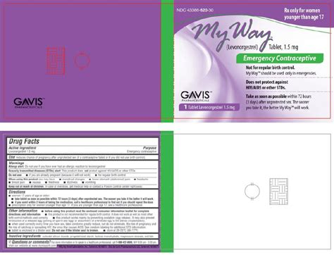 7 Best Emergency Contraceptives by My Way Tablets Fda Prescribing Information Side Effects