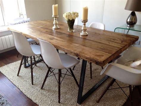 dining room cool atelier industrial metal dining chair vintage industrial rustic reclaimed plank top dining table