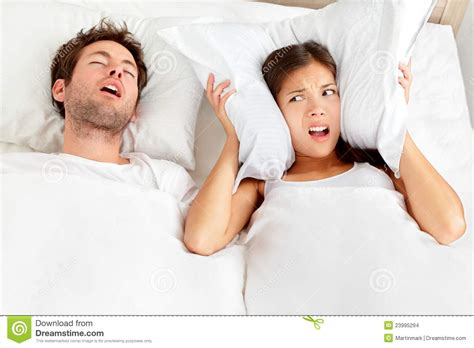 snoring in bed stock images image 23995294
