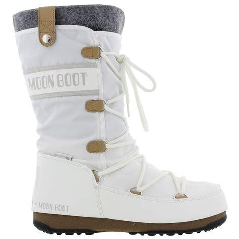 moon boots womens moon boots monaco felt womens black white waterproof ski