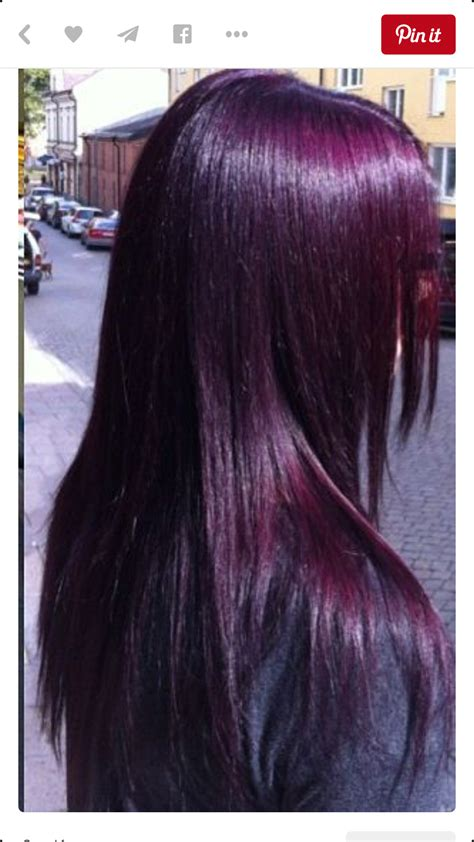 black purple hair color eggplant purple so almost black hair colorz