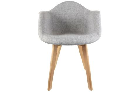 Chaise Accoudoir Scandinave by Chaise Scandinave Avec Accoudoir Tissu Gris Design
