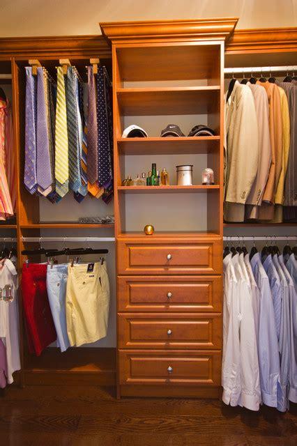 handsome mens walk  closet traditional closet