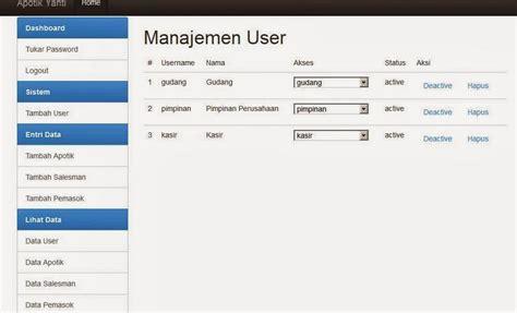 membuat database fingerprint aplikasi apotik codeigniter gratis