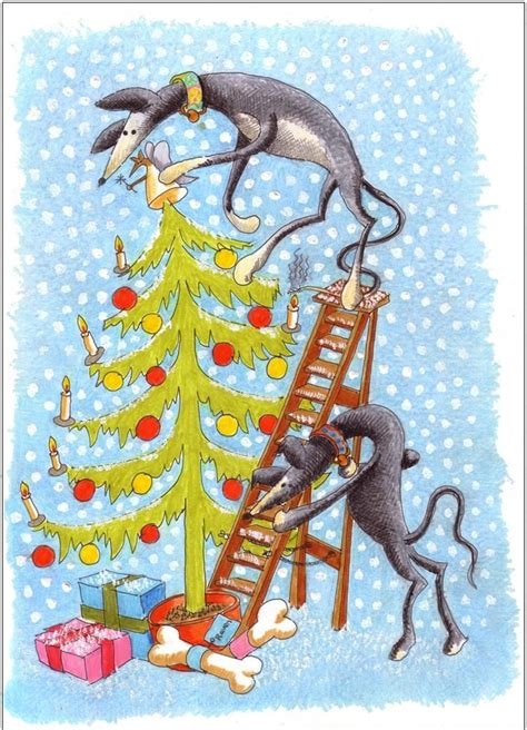 greyhound christmas cards  nigel royall  action  greyhounds greyhound grey hound dog