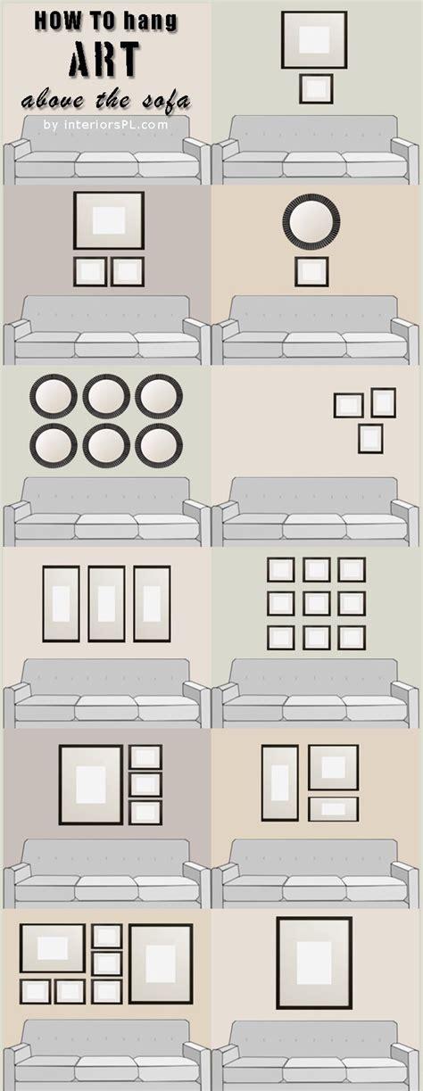 how to hang wall art appendere l arte sopra il divano gushmag
