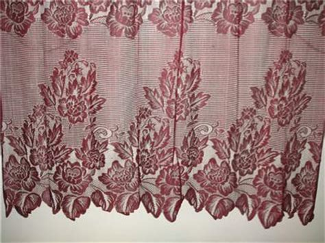 burgundy lace curtains burgundy warp knitting lace sheer curtain 152cm x 228cm