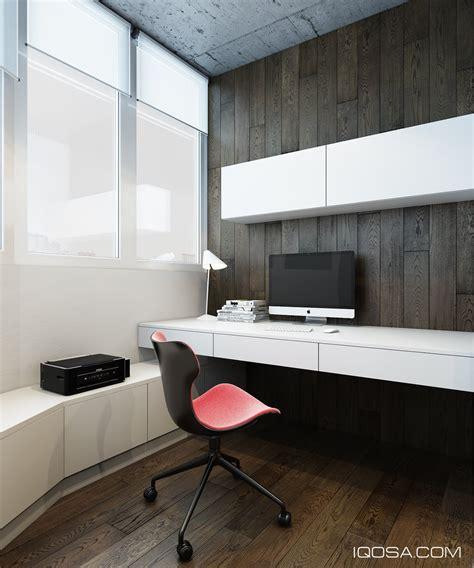 Modern Built In Desk Design A Chic Modern Space Around A Brick Accent Wall