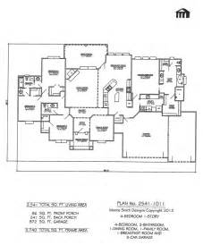 One Story House Plans With 4 Bedrooms by One Story 4 Bedroom House Plans Www Galleryhip Com The