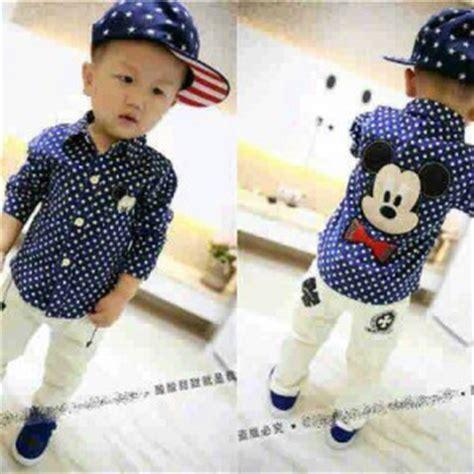 Mickey Tunik Atasan Wanita setelan baju celana panjang anak laki laki model terbaru