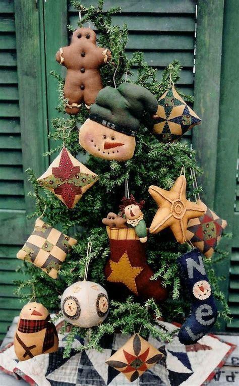 homespun woodland christmas tree the country cupboard primitive folk tree ornaments pattern my stuff
