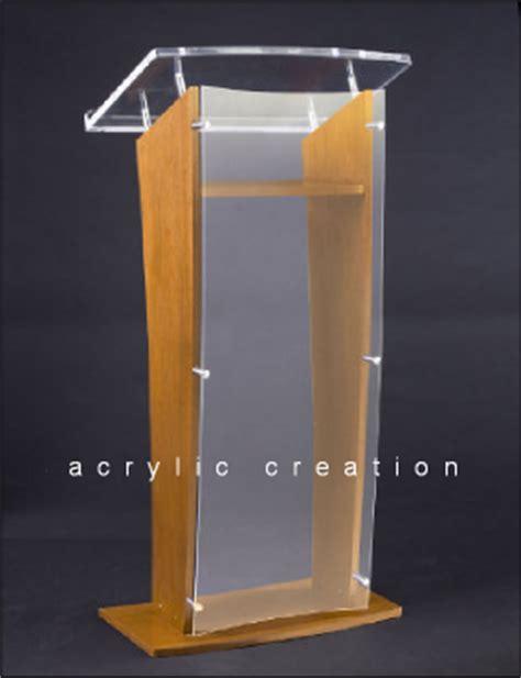 Podium Akrilik Mimbar Akrilik Acrylic Lectern Pd02 category podium lectern acrylic akrilik acrylic