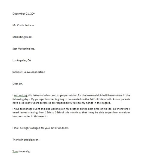 application letter to study as a sle application letter for study leave