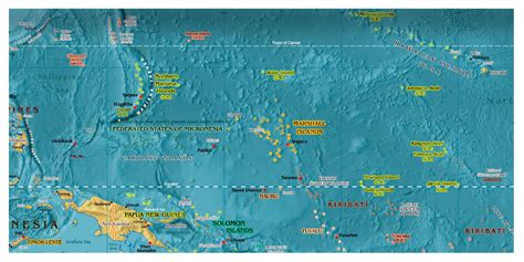 micronesia map micronesia detailed map with relief detailed map of micronesia with relief vidiani maps