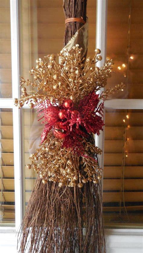Holiday Cinnamon Broom by marys4everflowers on Etsy, $20