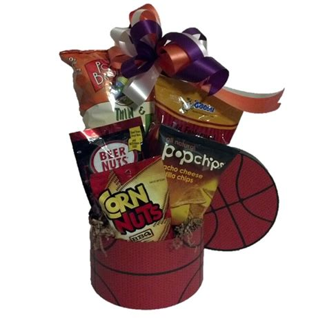 gifts for basketball fans basketball fan sports gift basket m r designs giftsm r