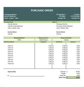Purchase Order Template Microsoft Excel by Doc 464600 Microsoft Office Purchase Order Template