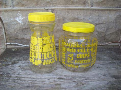 yellow kitchen storage jars vintage yellow kitchen glass storage jars with lids