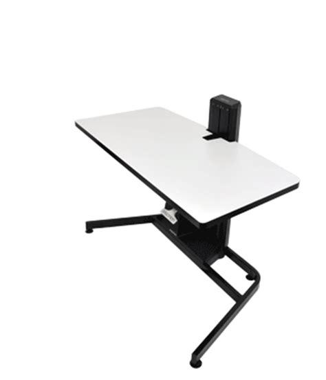Workfit D Sit Stand Desk Ergotron 24 219 200 Workfit D Height Adjustable Standing Desk