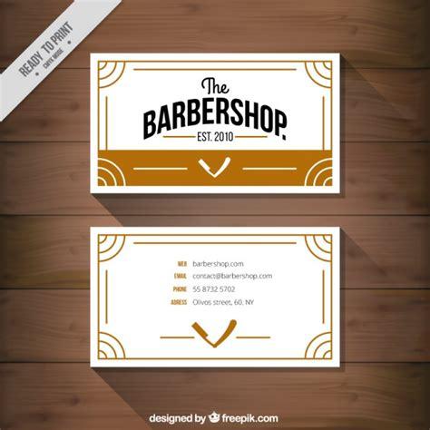Barbershop Business Card Template by Barbershop Business Card Vector Free