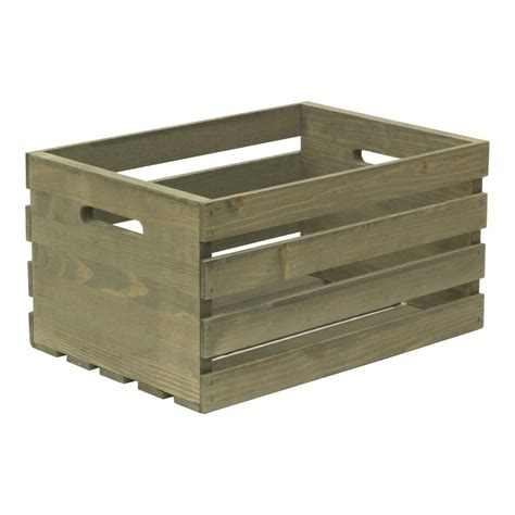 large crates crates and pallet large weathered gray wood crate 67520 the home depot