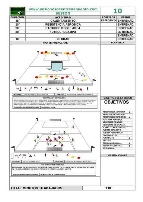 sesiones de futbol sala 20 sesiones de entrenaiento futbol