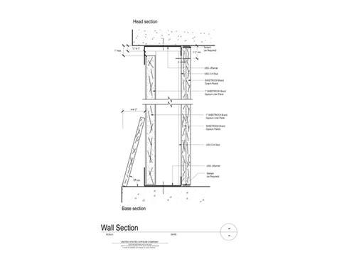 elevator shaft section usg design studio 09 21 16 23 311 shaft wall wall