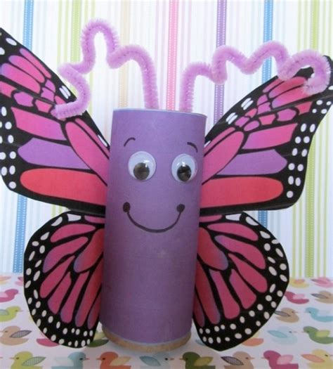 Toddler Crafts With Toilet Paper Rolls - vlinder wc rollen creatief met afval