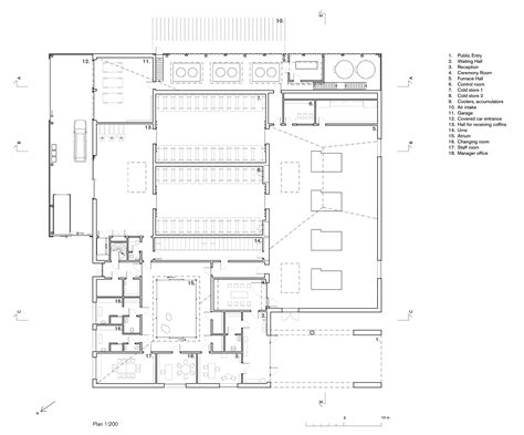 crematorium floor plan gallery of the new crematorium the woodland cemetery
