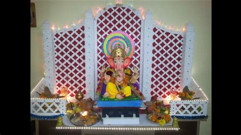 decorations at home ganpati decoration idea for home youtube