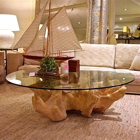 Tree Stump Coffee Table Tree Trunk Table This Could Be Cool With My Glass I Already New Apartment Pinterest