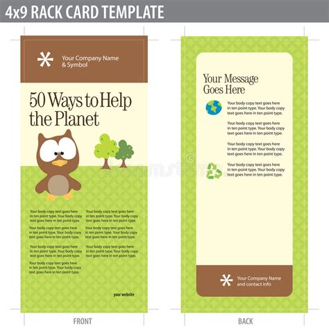 keyhole nature brochure template design id 0000008048 4x9 rack card brochure template stock vector image 8937038