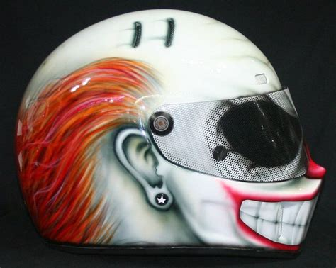 design helm half face custom full face motorcycle helmets clown awesome