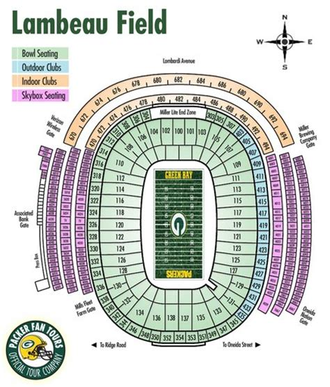 seating chart lambeau lambeau field maplets