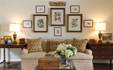 gracious groupings tips  decorating halls  walls