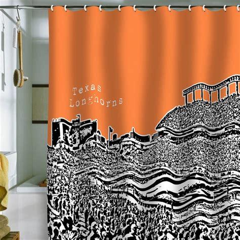 longhorn shower curtain bird ave texas longhorns orange shower curtain