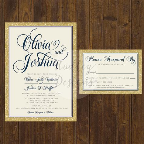 Simple Unique Wedding Invitations by Hadley Designs Classic