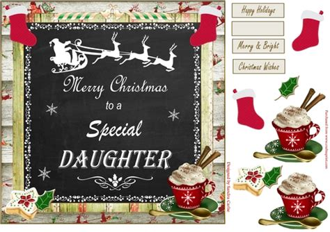 merry christmas special daughter topper cup craftsuprint
