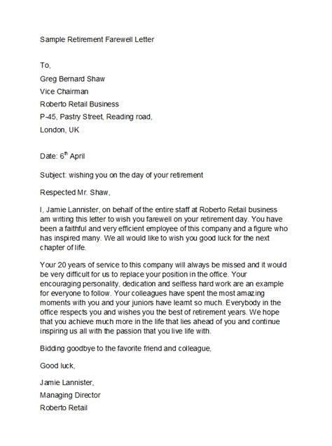 professional retirement announcement letters emails