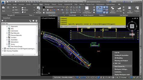 jual tutorial autocad civil 3d autocad civil 3d 2015 tutorial civil 3d workspaces youtube