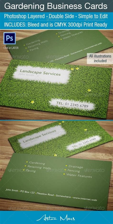 Gardening Business Cards Templates by 17 Best Images About Mata Landscaping On Metal