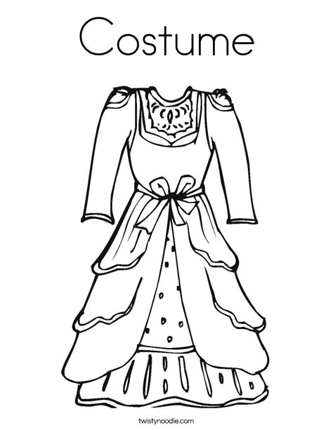 Costume Coloring Page Twisty Noodle Costumes Coloring Pages
