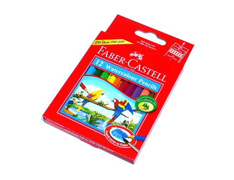 Watercolour Pencils Faber Castell 12 faber castell watercolour pencils water soluble box 12 114461 pb610 colour pencils