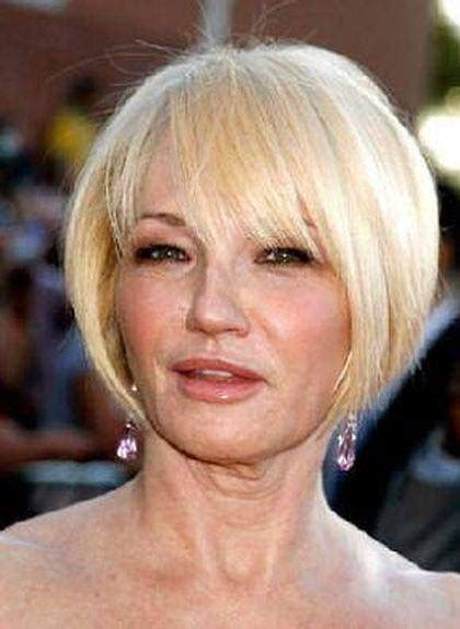 hairstyles for a trendy sixty year old blonde longish face best short haircuts for older women short hairstyles