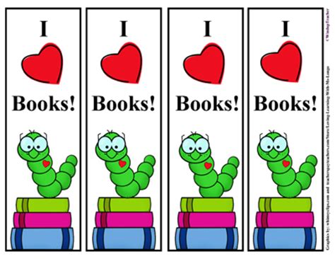 printable worm bookmarks bookworm bookmarks color and b w