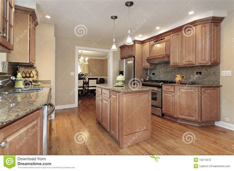 Center Island Kitchen Kitchen With Center Island Stock Photography Image 13274572