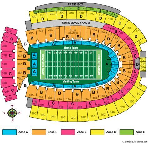 section 3c ohio state vs michigan football 2 student tickets section