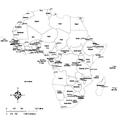 africa map pdf africa safari and tropical digital vector maps