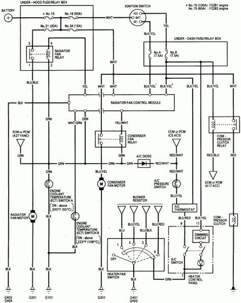 2001 honda accord headlight wiring diagram fuse box and